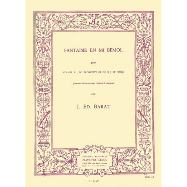 Fantaisie en mi Bemol. Joseph  Edouard Barat.  Cornet/Trompet and Piano