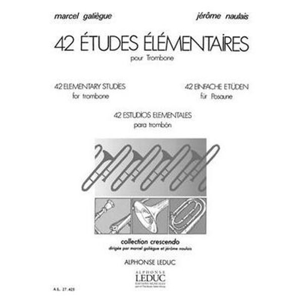 42 Etudes Elementaires, Galiegue. Trombone