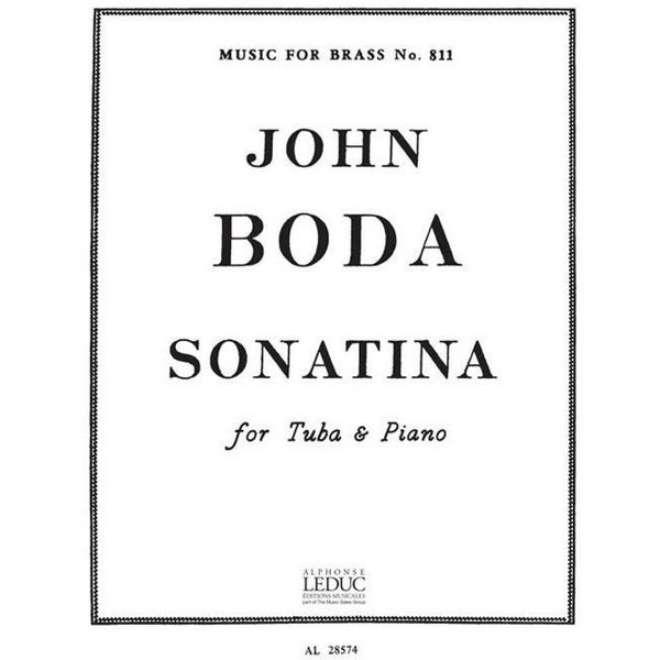 Sonatina for Tuba and Piano, John Boda. Score