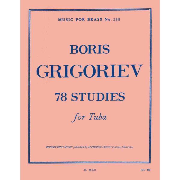 Grigoriev 78 Studies for Tuba