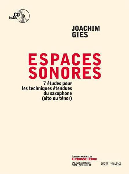 7 etudes pour saxophone - J. Gies m/cd