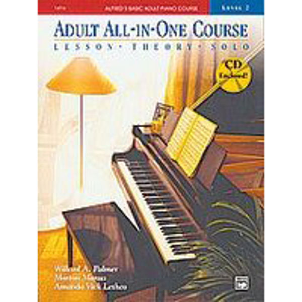 Alfreds Basic Piano Adult All-in-One Course Lesson Bk/CD 2