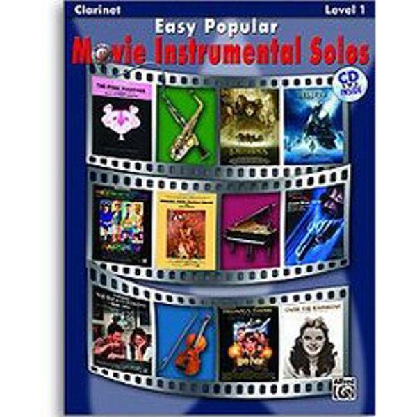 Easy Popular Movie Instrumental Solos Clarinet/CD