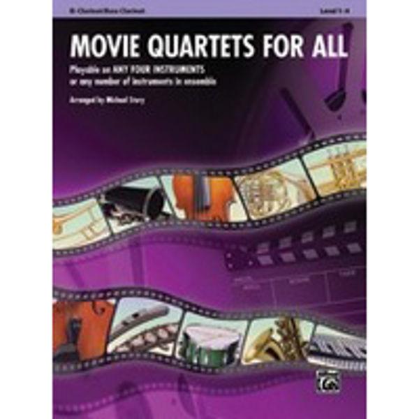 Movie quartets for all Clarinet/Bass Clarinet