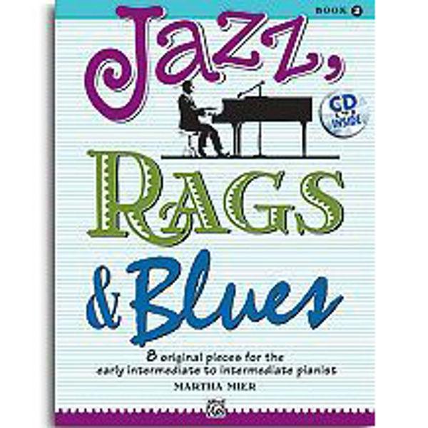 Jazz, Rags & Blues 2 m/cd. Martha Mier. Piano.