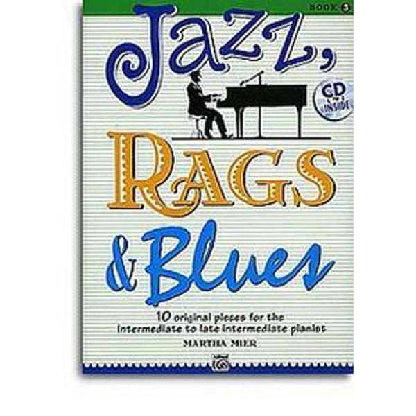 Jazz, Rags & Blues 3 m/cd. Martha Mier. Piano.