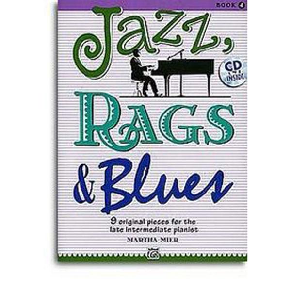 Jazz, Rags & Blues 4 m/cd. Martha Mier. Piano.