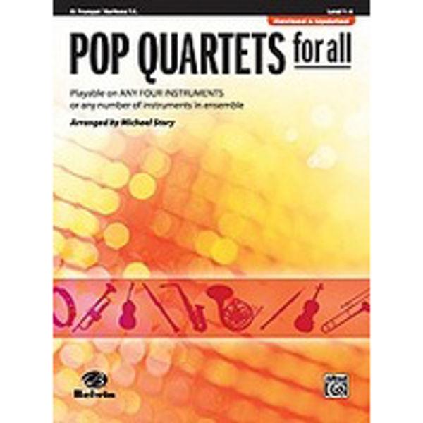 Pop quartets for all Trumpet/Euphonium
