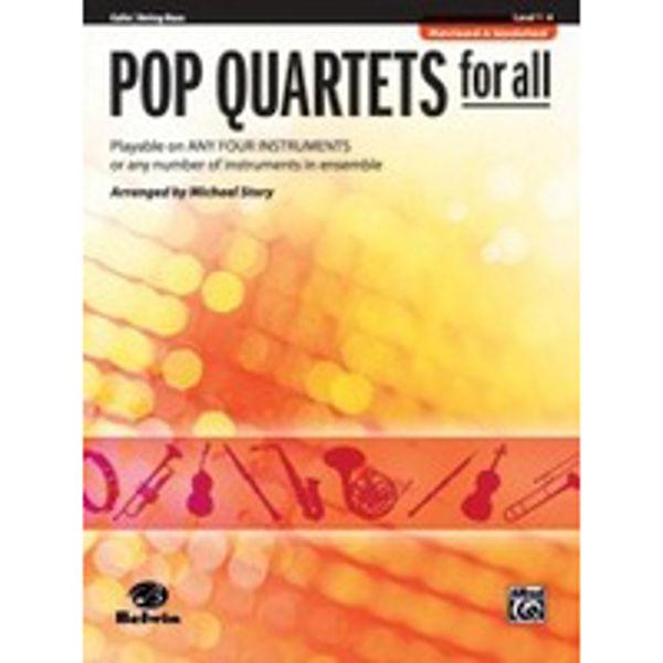 Pop quartets for all Cello/Bass