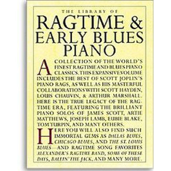 Ragtime & Early Blues Piano