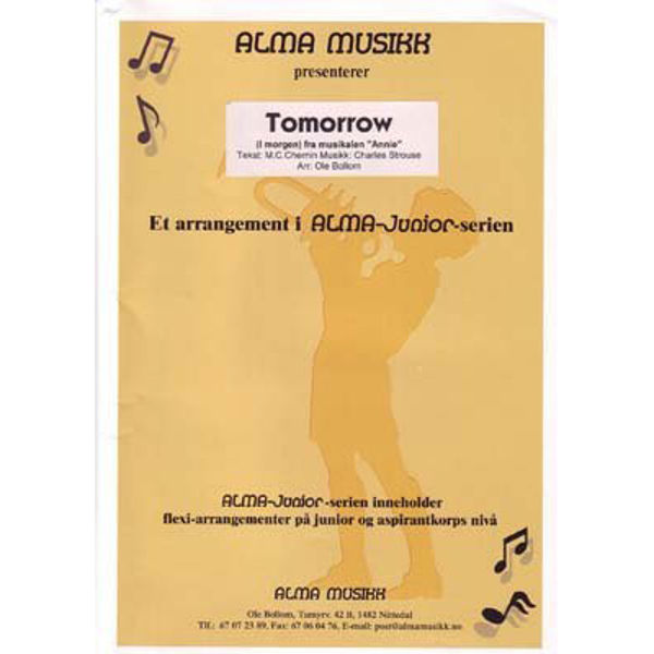 Tomorrow - Alma Juniorserie