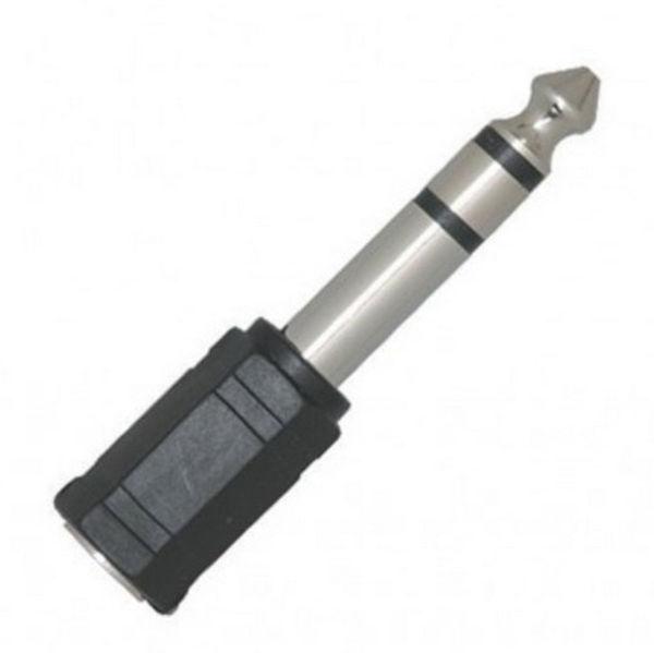 Overgang AMP A04, Mini Jack-Hun Til Jack-Hann Stereo, 3,5mm-1/4