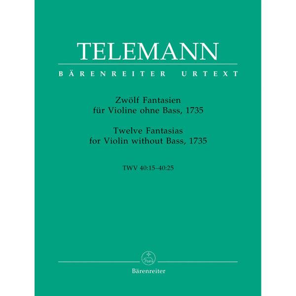 Twelve Fantasias for Violin without Bass, 1735 TWV40:14-40:25