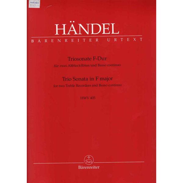 Triosonate F-Dur für 2 Blockflöten und Basso continuo, HWV 405, Händel