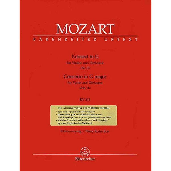 Concerto in G major for Violin and Orchestra No.3, KV216, Mozart