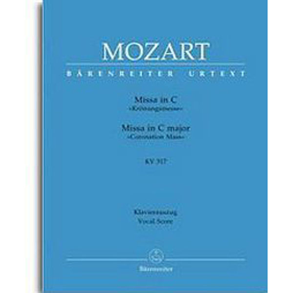 Mozart - Missa in C,  Krönungsmesse KV 317, Vocal Score