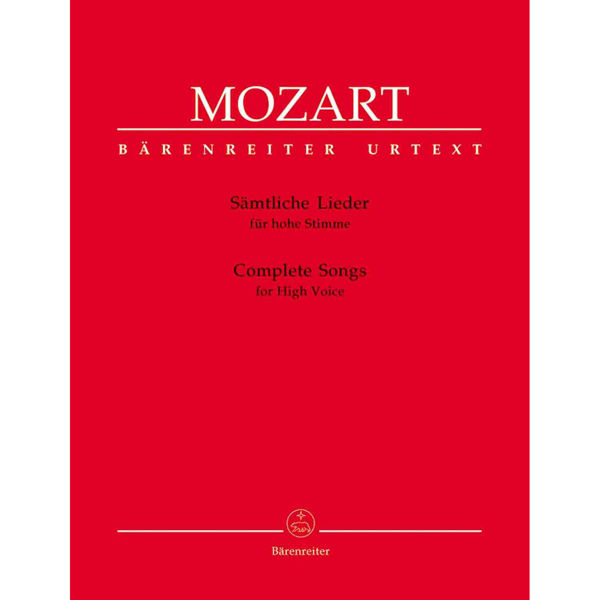 Mozart - Complete Songs - High Voice