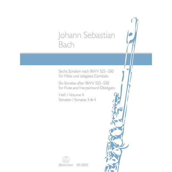 Six sonatas after BWv 525-530 for Flute and Harpsichord - Johann Sebastian Bach, Volum  2 Sonata 3 & 4