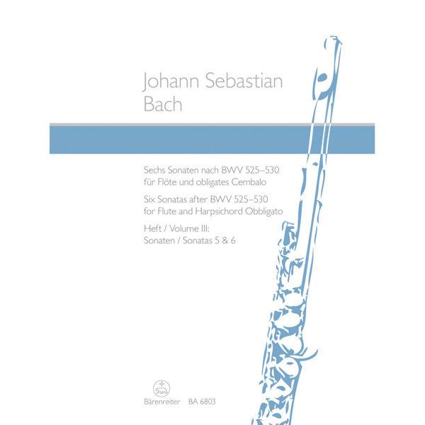 Six Sonatas for Flute and Harpishord Obbligato - J.S Bach