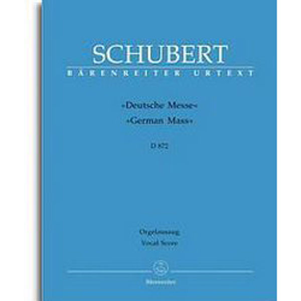 Schubert - German Mass D872 - Vocal Score
