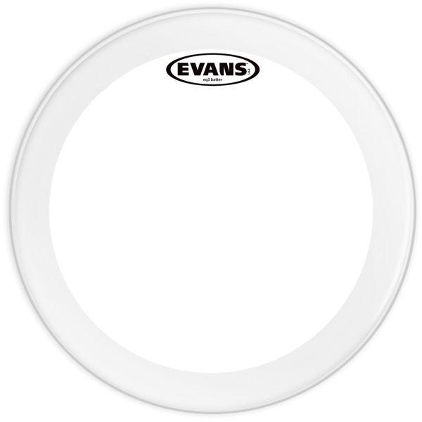 Stortrommeskinn Evans EQ3, BD22GB3, Batter Clear 22