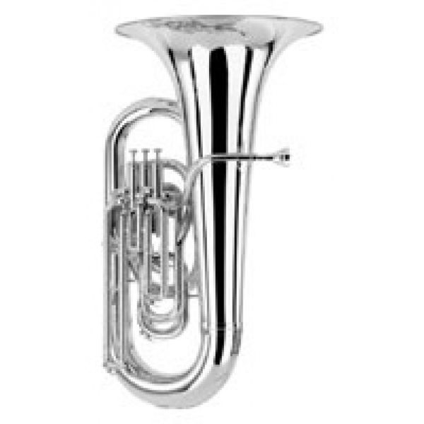 Tuba Eb Besson Sovereign 983-2-0 Silver 4 frontv. Yellow Brass Bell 17