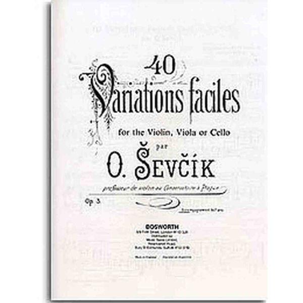 Sevcik Violin Studies opus 3 40 Variations, Pianoakkompagnement