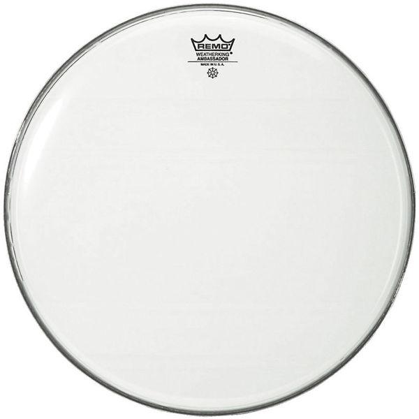 Stortrommeskinn Remo Ambassador, BR-1218-00, Smooth White 18