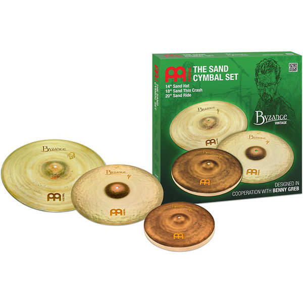 Cymbalpakke Meinl Byzance Vintage Sand Benny Greb, 14-18-20