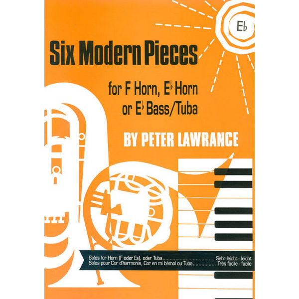 Six Modern Pieces, Eb Horn/Piano, Peter Lawrance