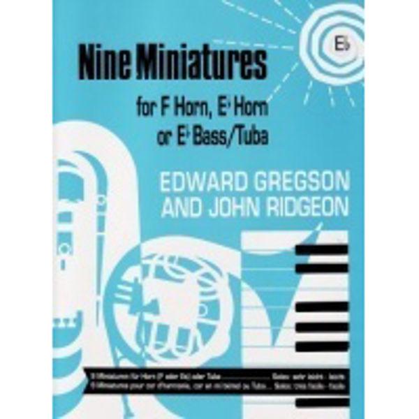 Nine Miniatures, Eb Horn/Piano