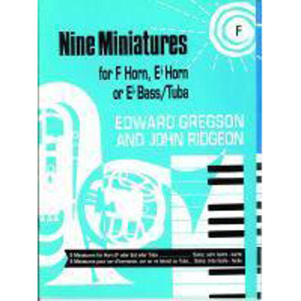 Nine Miniatures, F Horn/Piano
