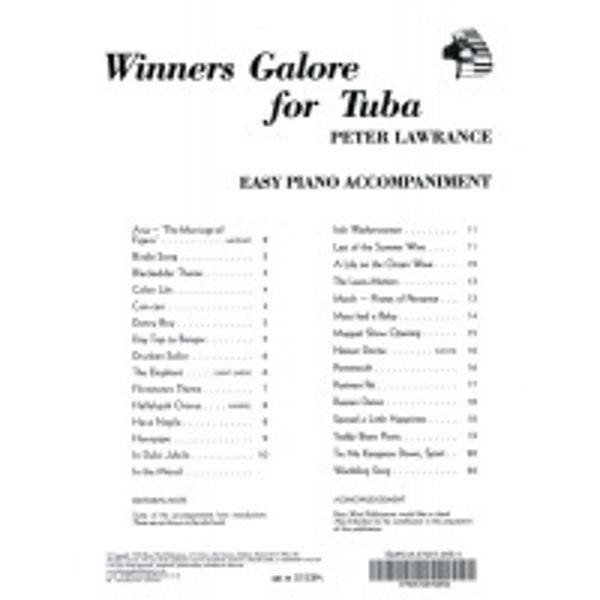 Winners Galore for Eb Tuba/Tuba PA, Pianoakkompagnement