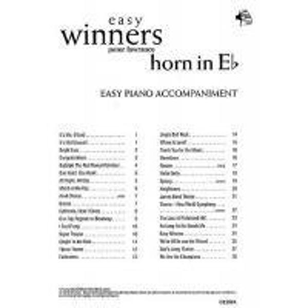 Easy Winners, Horn Eb Pianoacc.