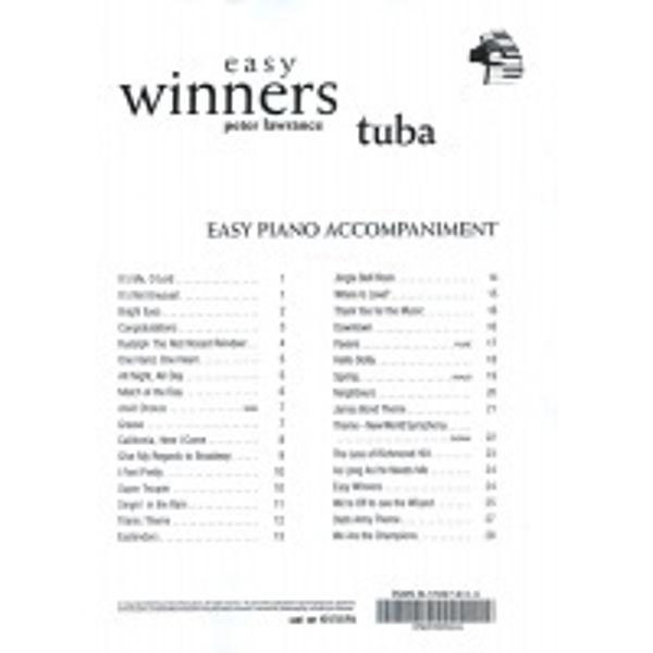 Easy Winners PA, Pianoakkompagnement
