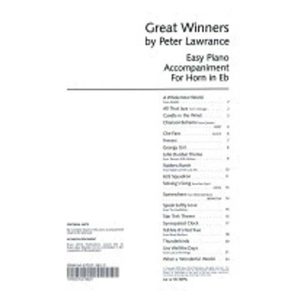 Great Winners Eb Horn PA, Pianoakkompagnement