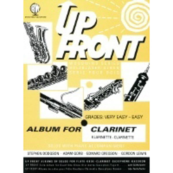 Up Front Album for Clarinet, Clarinet/Piano