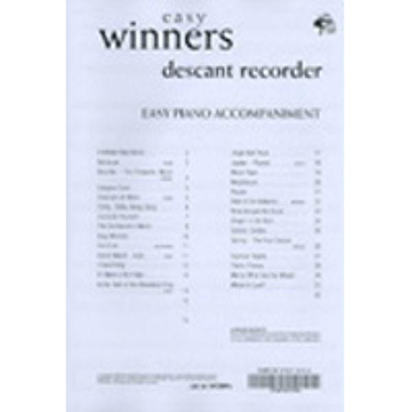 Easy Winners Recorder, Pianoakkompagnement