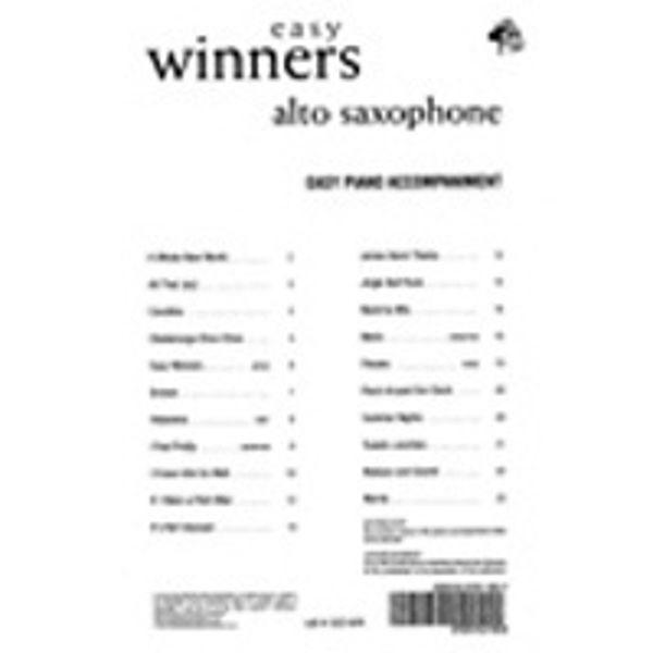 Easy Winners Saksofon Eb, Pianoakkompagnement