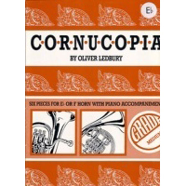 Cornucopia, Oliver Ledbury. Six pieces for  Eb Horn/Piano