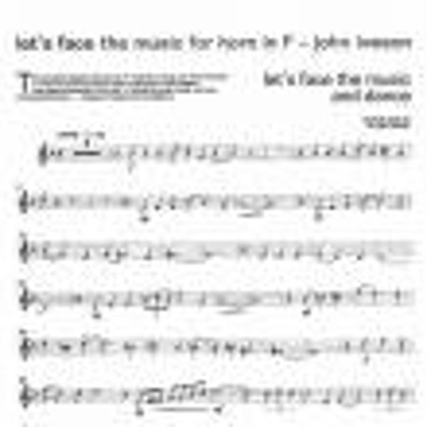 Lets Face the Music, Eb Horn/Piano