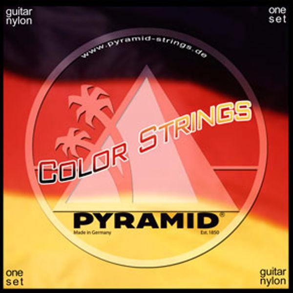 Gitarstrenger Nylon Pyramid Classical Medium Color