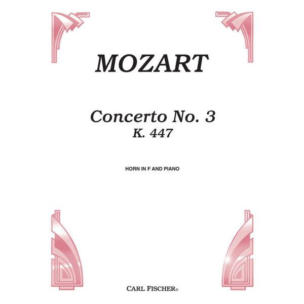 Horn Concerto No 3 K447 Eb major Wolfgang Amadeus Mozart (Horn and piano)