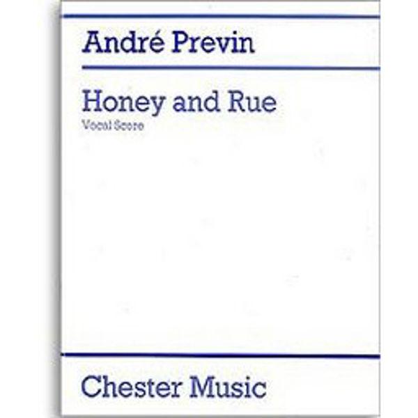 Previn - Honey and Rue - Vocal Score