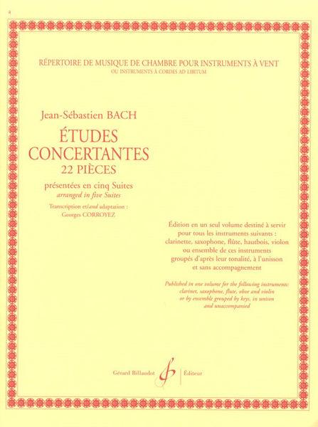 22 Etudes Concertantes for Clarinet, Jean-Sebastian Bach