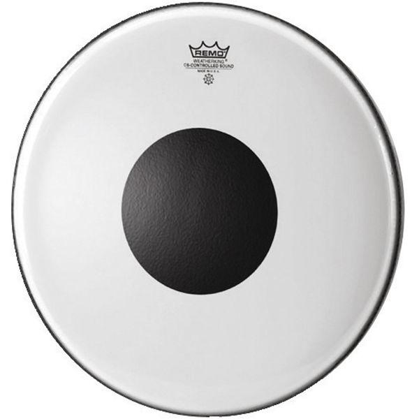 Stortrommeskinn Remo Controlled Sound CS-1324-10, Clear Black Dot, 24