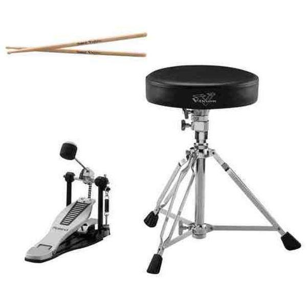 V-Drums Tilleggsutstyr Roland DAP-3X, Trommestol, pedal og stikker