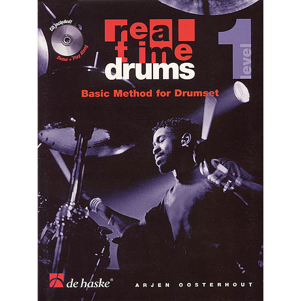 Real Time Drums -Great Grooves, Arjen Oosterhout m/CD, English Version