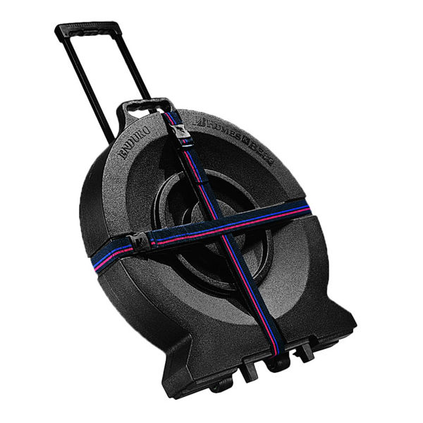 Cymbalkasse Humes & Berg Enduro 526ZTP, 22 Tilt-N-Pull, Black Case w/Wheels and Foam Lining