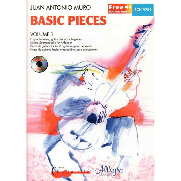 Basic pieces vol 1 Guitar, Book/CD. Juan Antonio Muro